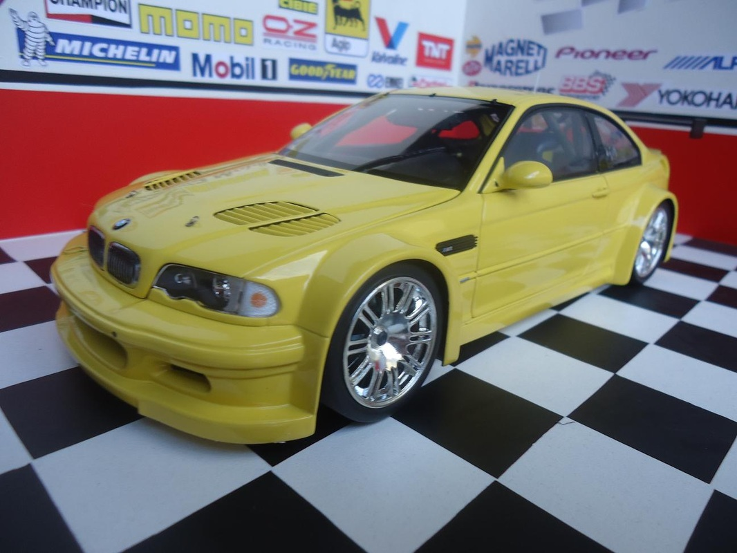 Bmw M3 Gtr Street Yelow 2001 Mini Car Miniaturas Colecionaveis 1 18